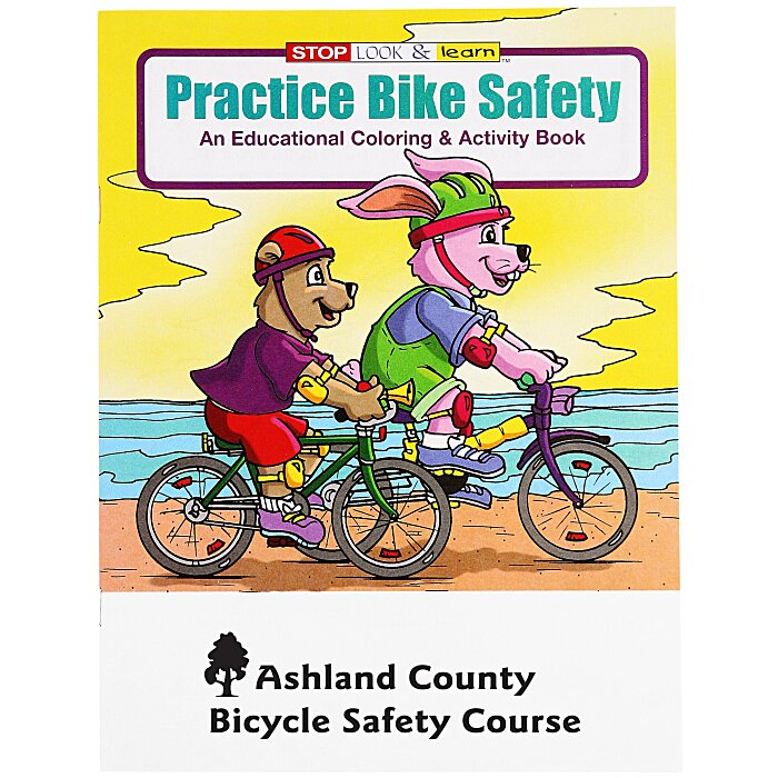 4imprint.com: Practice Bike Safety Coloring Book 1034-BS ...