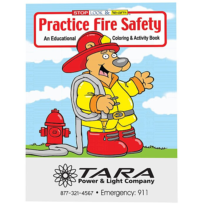 4imprint.com: Practice Fire Safety Coloring Book 1034-PFS: Imprinted ...