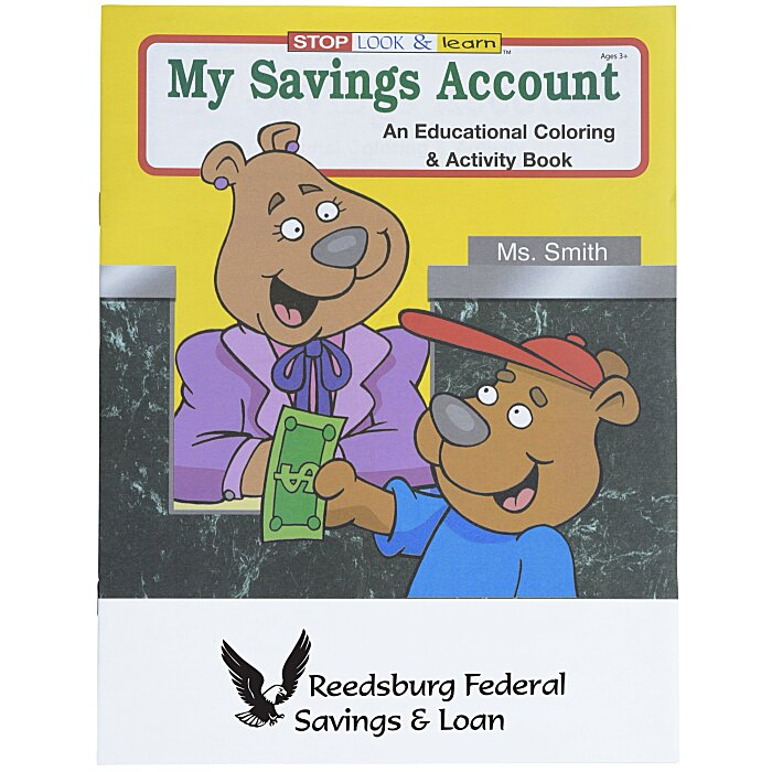 4imprint.com: My Savings Account Coloring Book 1034-SA ...