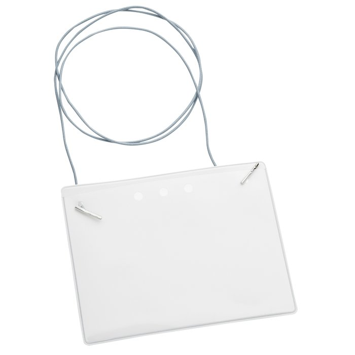 Eco-Friendly Badge Holder - Elastic Neck Cord