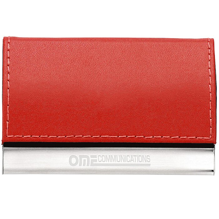4imprint.com: Leather and Metal Business Card Holder 104540