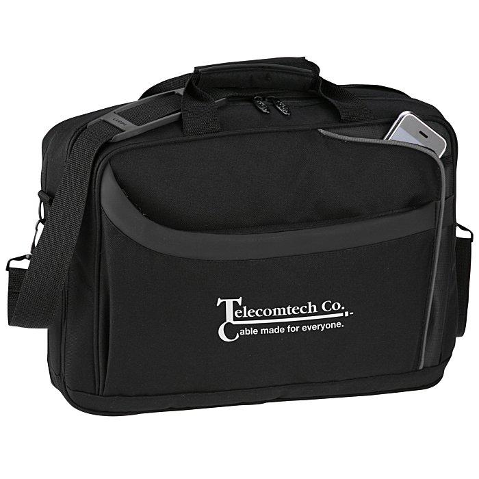 ab84ca97f4 4imprint.com  CheckMate Checkpoint Friendly Laptop Bag 104754