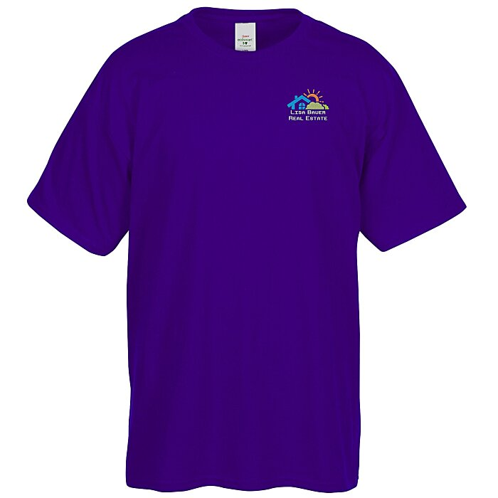 ade591656 4imprint.com: Hanes 50/50 ComfortBlend T-Shirt - Embroidered - Colors  4795-E-C
