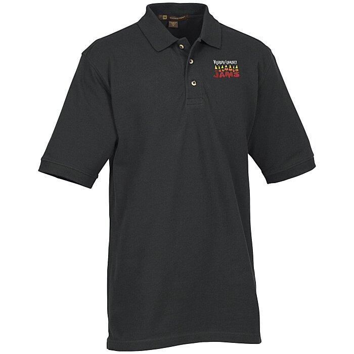 97de8790 4imprint.com: Harriton 6 oz. Ringspun Cotton Pique Polo - Men's 105474-M