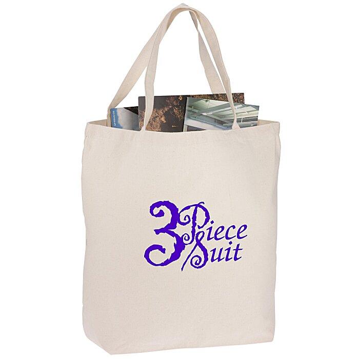 d44e0b967 4imprint.com: Oversized 12 oz. Cotton Canvas Tote Bag - Natural 105739-N