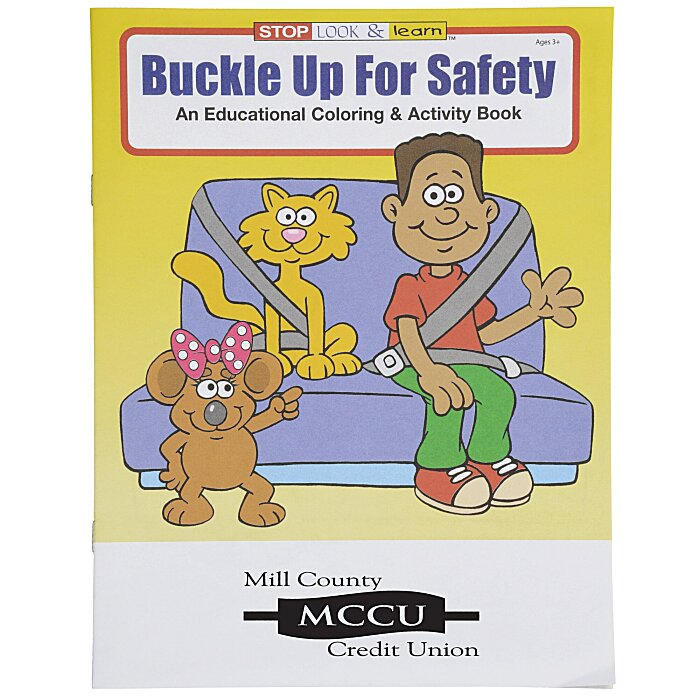 4imprint.com: Buckle Up For Safety Coloring Book 1034-BU
