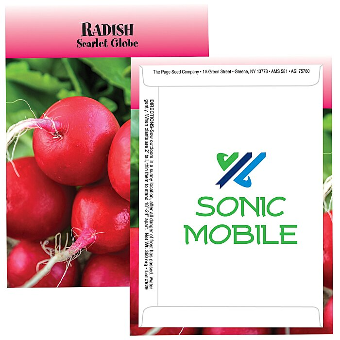 4imprint Com Standard Series Seed Packet Radish 105863 Rds Imprinted With Your Logo