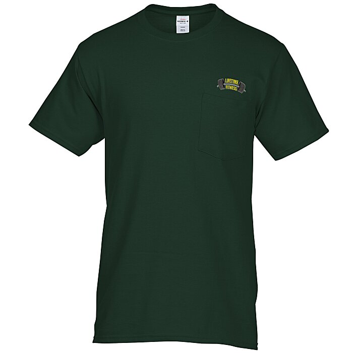 df917d8d67 4imprint.com: Hanes Tagless Pocket T-Shirt - Embroidered - Colors 6729-P-E-C