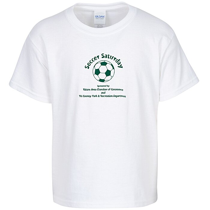 9fb3ce17 4imprint.com: Gildan 6 oz. Ultra Cotton T-Shirt - Youth - White ...