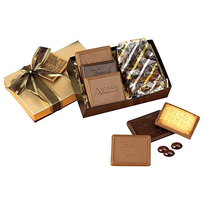 4imprint Com Cookies And Confections Treat Box Dark