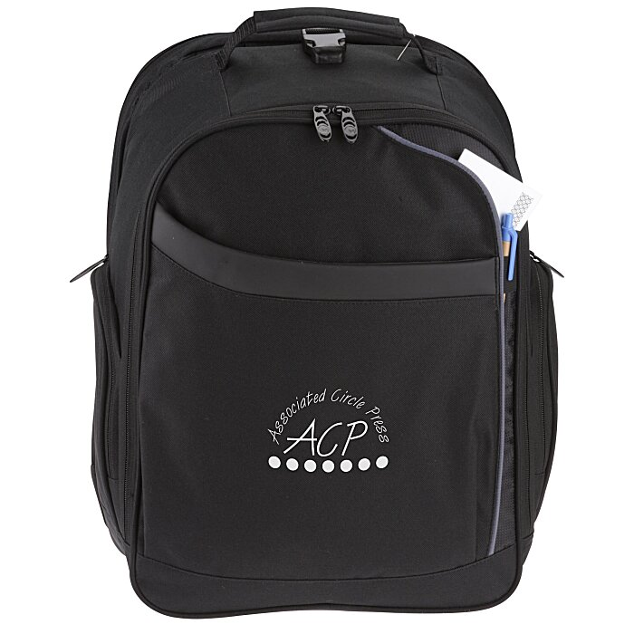 cf1db5bb4f 4imprint.com  Checkmate Checkpoint Friendly Laptop Backpack 108113