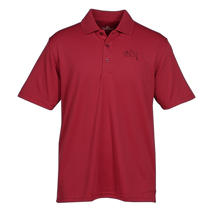 916197ba 4imprint.com: Vansport Omega Solid Mesh Tech Polo - Men's - Laser Etched  108610-M-LE