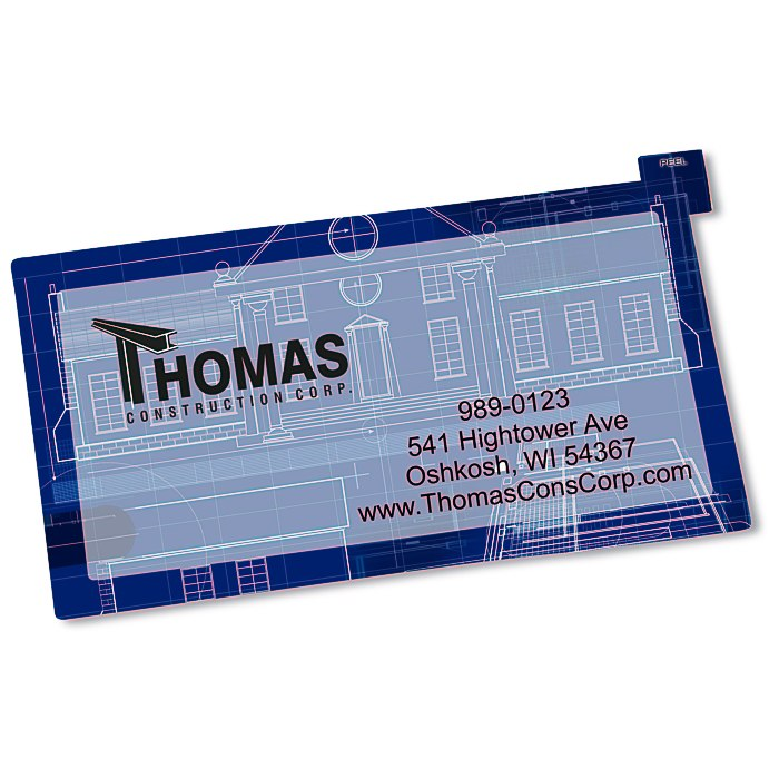 108857 is no longer available 4imprint promotional products repositionable sticker business card main image colourmoves
