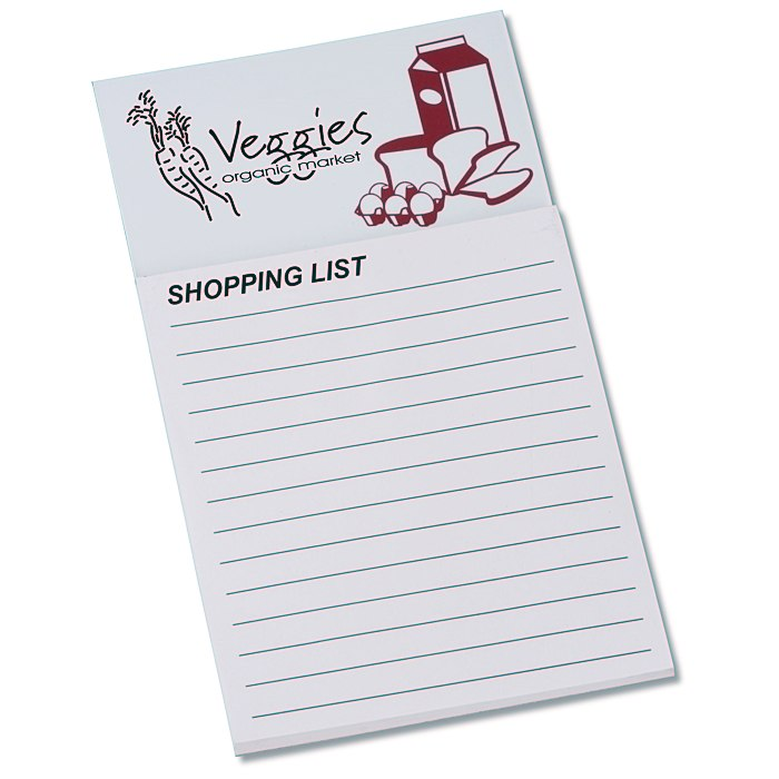 ImprintCom Bic Business Card Magnet With Notepad  Grocery List