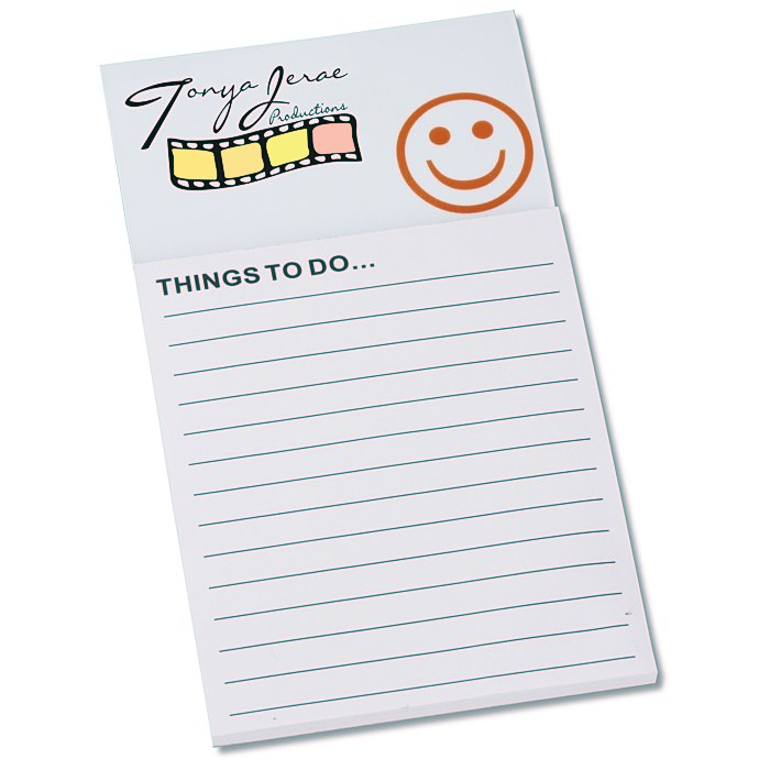4imprint.com: Bic Business Card Magnet with Notepad - Smiley Face ...