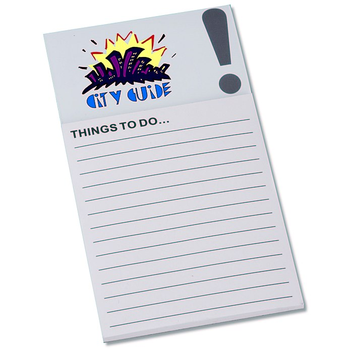 4imprint.com: Bic Business Card Magnet with Notepad - Exclamation ...