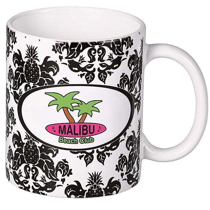 pineapple damask designer mug 11 oz 108795 pd