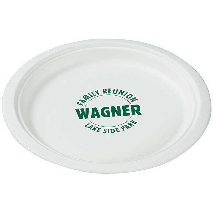 Compostable Paper Plate - 9  Main Image  sc 1 st  4Imprint : are paper plates compostable - pezcame.com