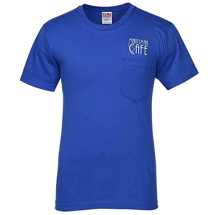 804deb9f953f 4imprint.com  Bayside USA Made T-Shirt with Pocket - Colors 110248-P-C