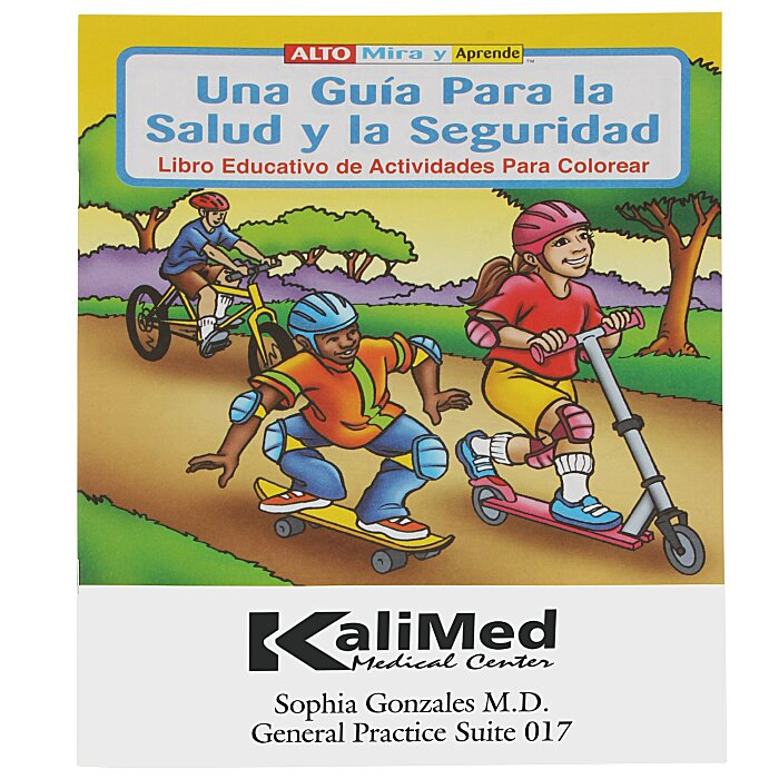 4imprint.com: A Guide To Health & Safety Coloring Book - Spanish ...
