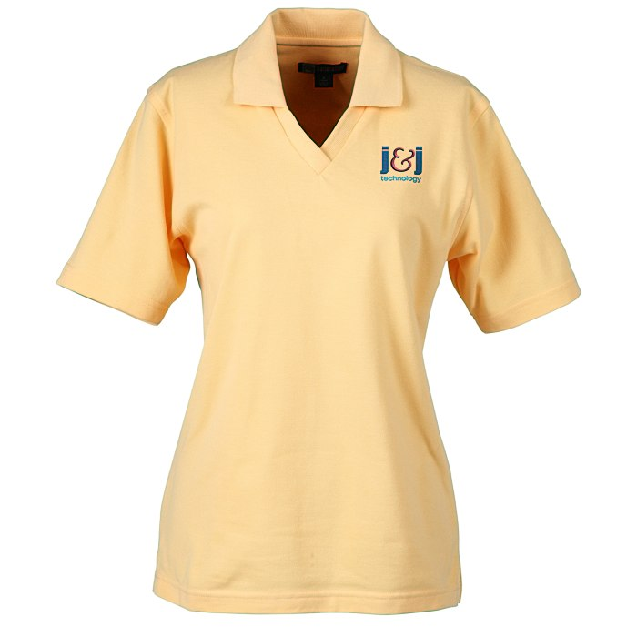 2156f278 4imprint.com: Superblend Johnny Collar Pique Polo -Ladies' 5752-L-JC