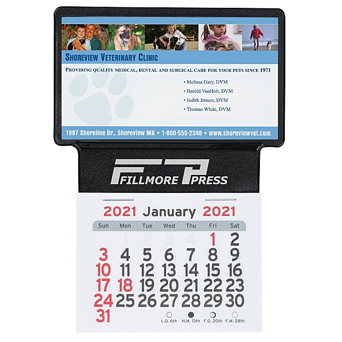 4imprint.com: Peel-n-Stick Calendar - Business Card Holder 111996 ...