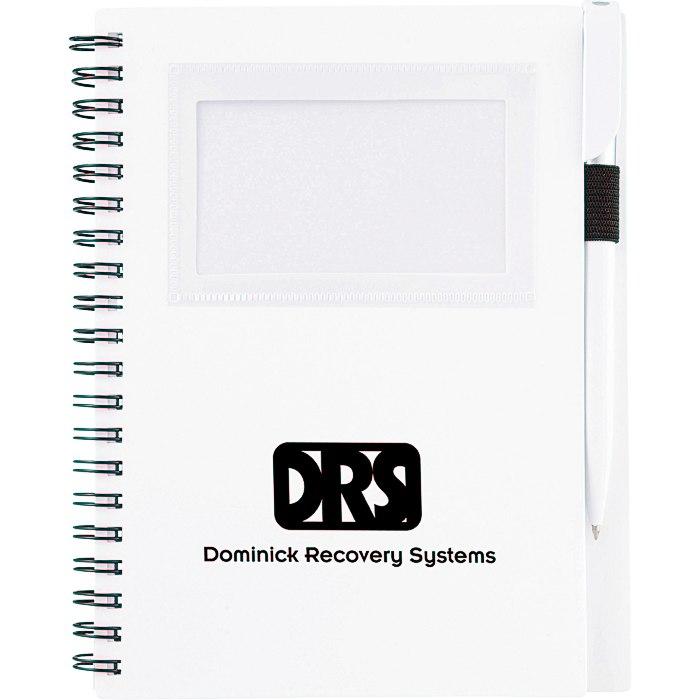 4imprint.com: Business Card Notebook with Pen - Opaque - 24 hr ...
