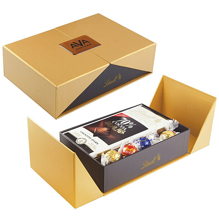 Chocolate Bar Gift Boxes : Imprint gift box with lindor truffles and chocolate