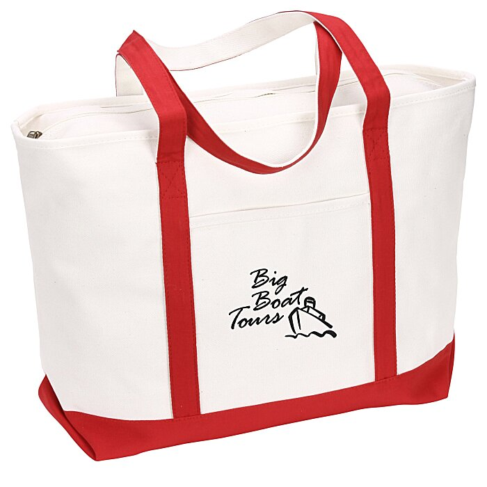 Bags | Totes | Large Heavyweight Cotton Canvas Boat Tote - Screen ...