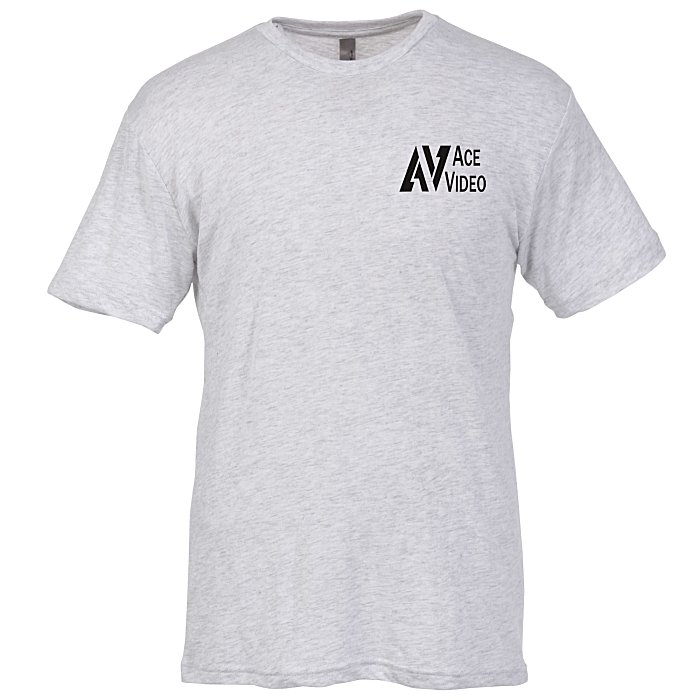 5c44b1ae8a 4imprint.com: Next Level Tri-Blend Crew T-Shirt - Men's - White 114711-M-S-W