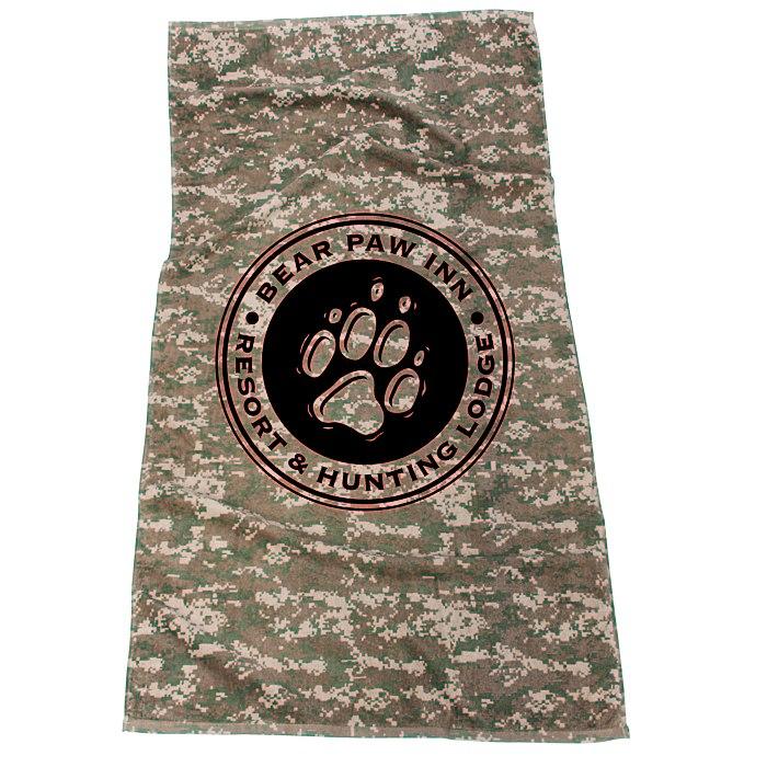 4imprint.com: Camo Beach Towel 114998: Imprinted with your ...