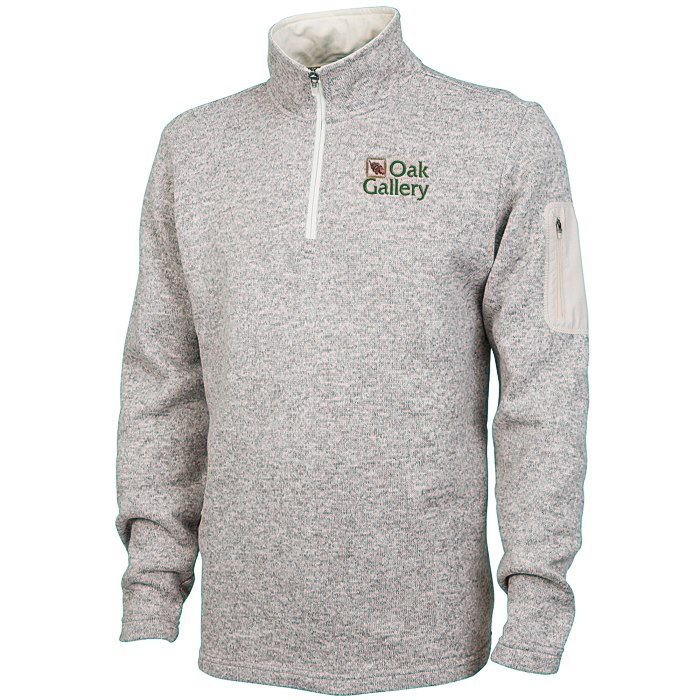 4imprint.com: Heathered Fleece Pullover - Men's 116137-M
