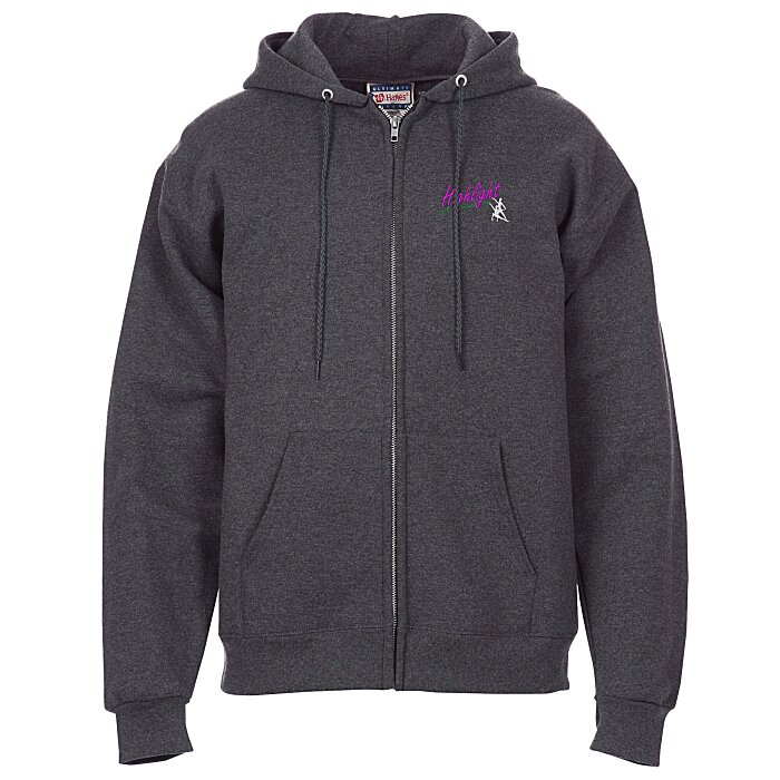 de60f99a 4imprint.com: Hanes Ultimate Cotton Full-Zip Hoodie - Embroidered 117543-E