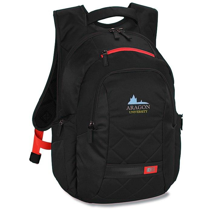 d1a5f8a8e9 4imprint.com  Case Logic Cross-Hatch Laptop Backpack - Embroidered 117185-E