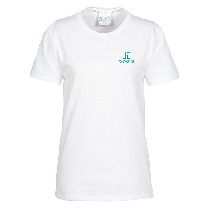 735bf4c350879 4imprint.com: Soft Spun Cotton T-Shirt - Ladies' - White - Screen  118390-L-W-S
