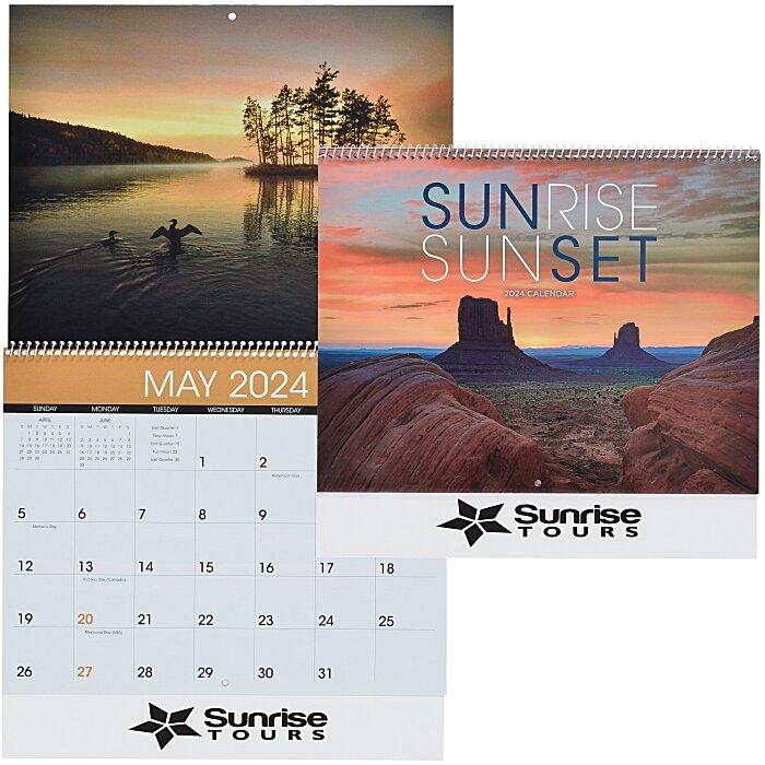 Sunset 2020 Calendar 4imprint.com: Sunrise/Sunset Calendar 118809