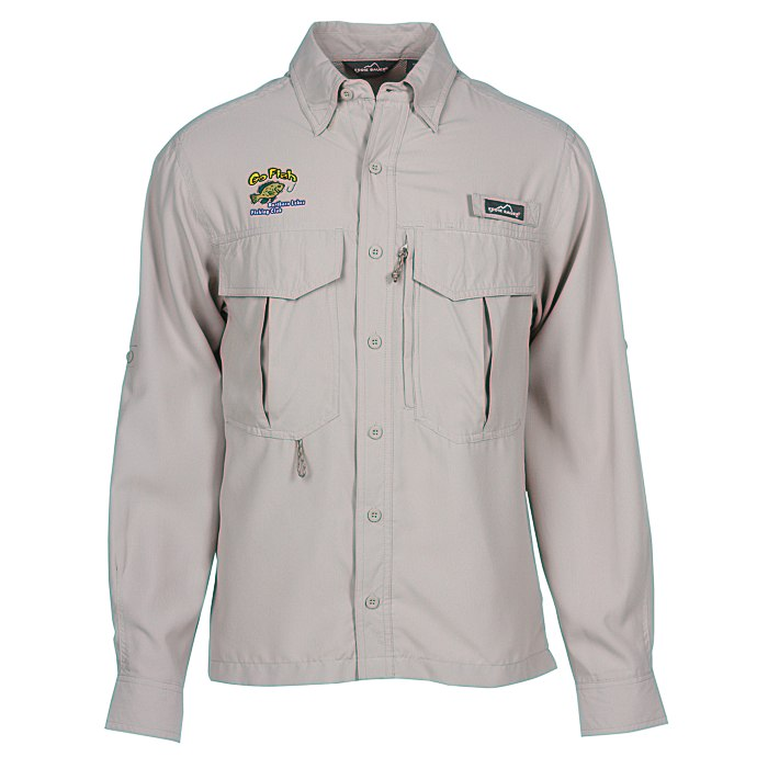 eddie bauer ls moisture wicking fishing