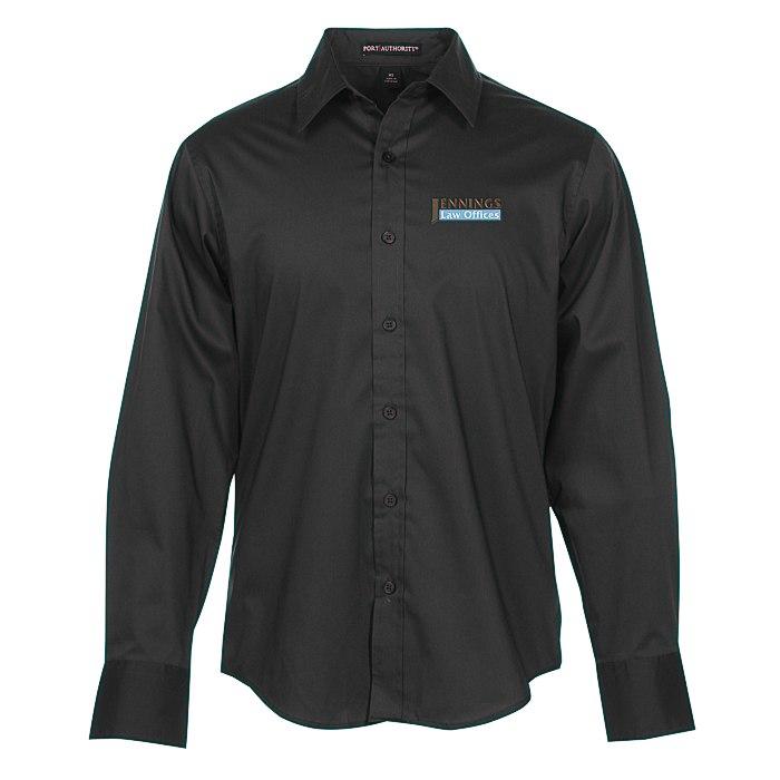 c13fed7c 4imprint.com: Wrinkle Resistant Stretch Poplin Shirt - Men's 119075-M