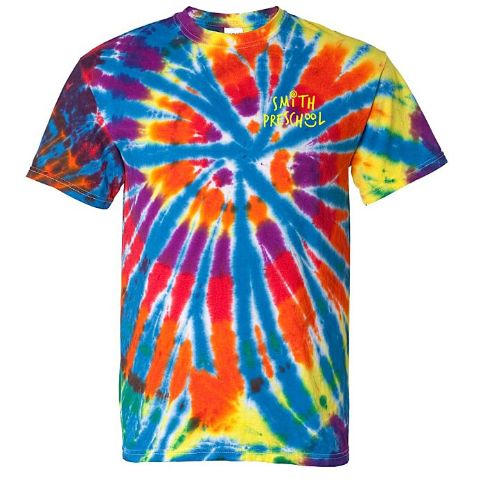 d32062d21 4imprint.com: Dyenomite Tie-Dyed Rainbow Cut Spiral T-Shirt 119429