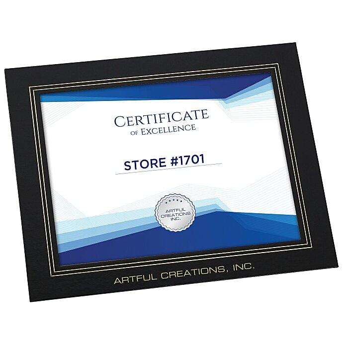 4imprintcom Wrapped Edge Certificate Frame 8 12 X 11 119362 811