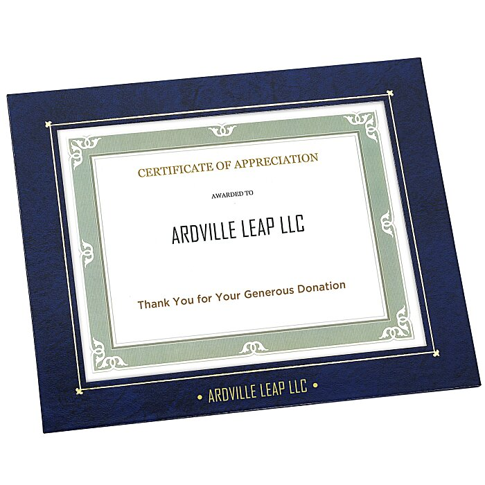 4imprint Wrapped Edge Certificate Frame 8 X 10 119362 810