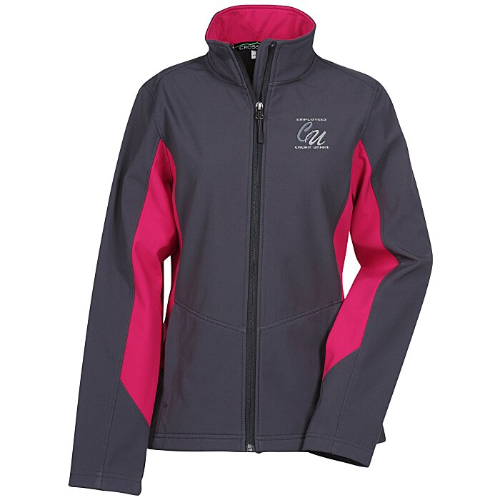 ff5e79d45e9 4imprint.com  Crossland Colorblock Soft Shell Jacket - Ladies  119678-L