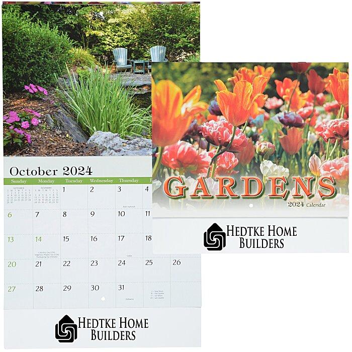Calendar Ideas Zip : Imprint beautiful gardens calendar stapled hr