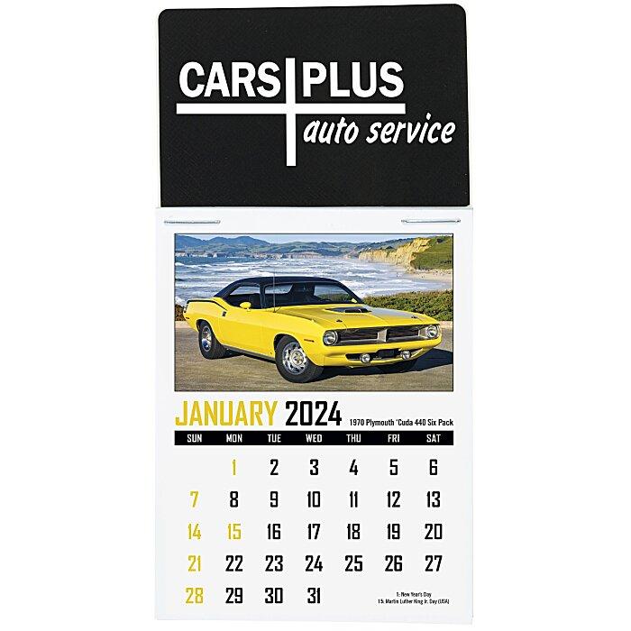 Muscle Car Stick Up Calendar - Rectangle