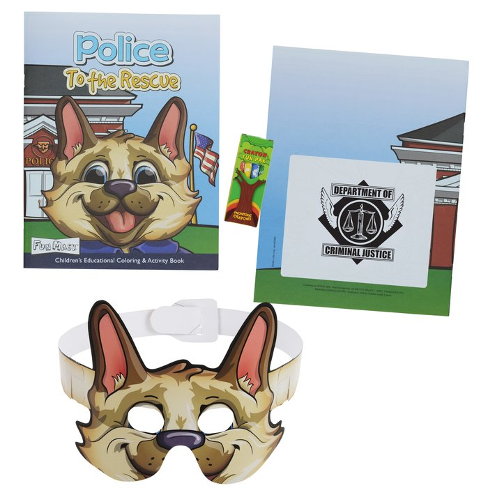 Coloring Book With Mask Crayons