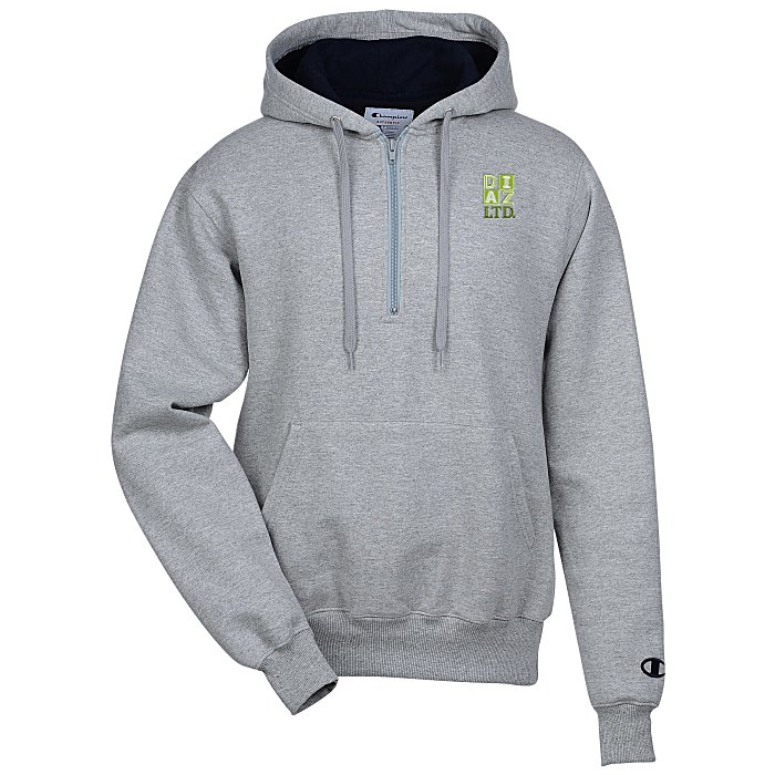 bc5a05ac 4imprint.com: Champion Cotton Max 1/4-Zip Hoodie - Embroidered 123273-E