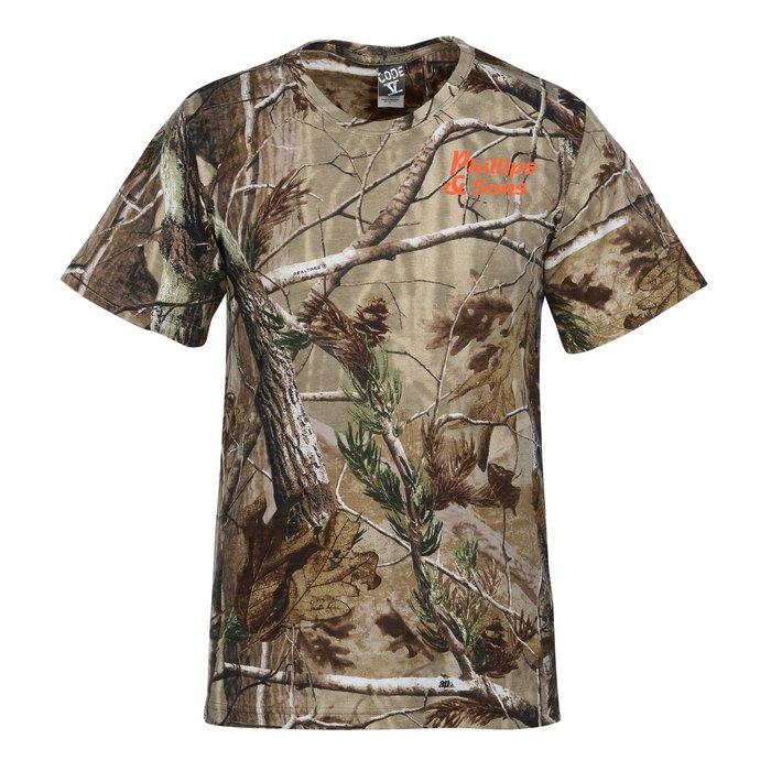 Code V Realtree Camouflage T Shirt Men 39 S