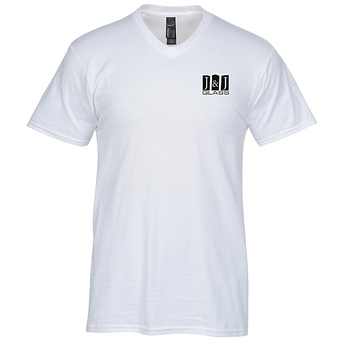 4imprint hanes nano t v neck t shirt s white 103478 m vn w imprinted with your logo