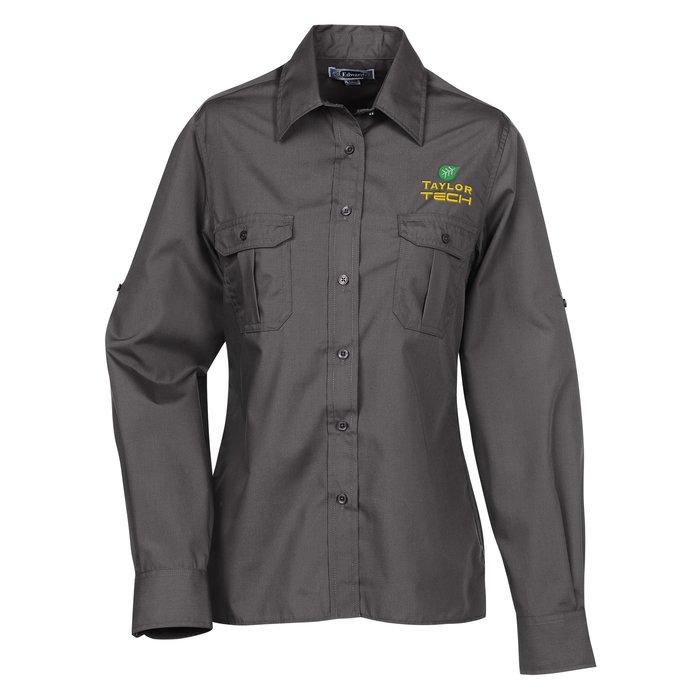 e5817a074f7 4imprint.com  Roll-Up Sleeve Double Pocket Shirt - Ladies  123280-L