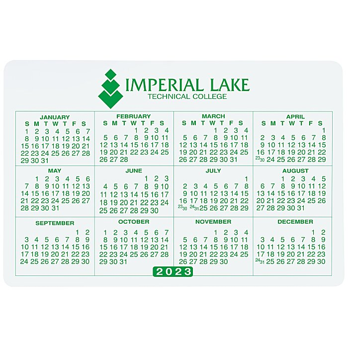 4imprint Com Removable Laptop Calendar 2 3 4 Quot X 4 1 8